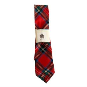 Vtg Tartan Tie Royal Stewart Red Wool Scotland NWT